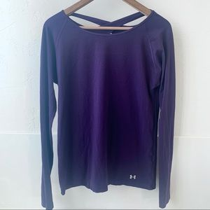 Under Armour long sleeve crossover keyhole shirt M